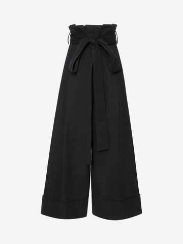 ALEXANDER MCQUEEN High Waisted Culottes Pants Woman f