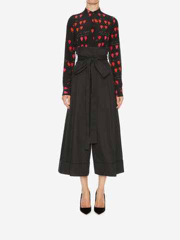 ALEXANDER MCQUEEN High Waisted Culottes Pants Woman r
