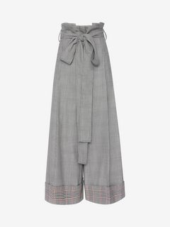 ALEXANDER MCQUEEN Pants Woman Prince of Wales Culottes f