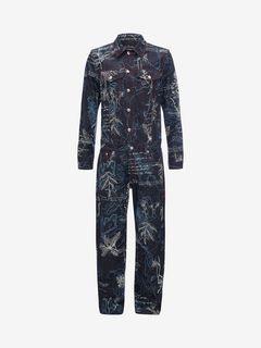 ALEXANDER MCQUEEN Jeans Man Explorer Denim Jumpsuit f