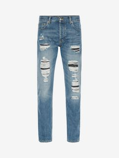 ALEXANDER MCQUEEN Jeans U Distressed Jeans f