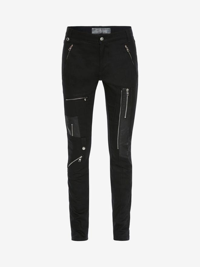 ALEXANDER MCQUEEN Zipped Jeans Pants Man f