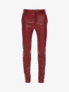 ALEXANDER MCQUEEN Trousers Man Leather Trousers f