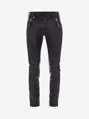 ALEXANDER MCQUEEN Leather Pants Pants Man f