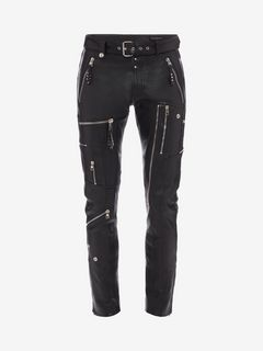 ALEXANDER MCQUEEN Trousers Man Biker Leather Trousers f