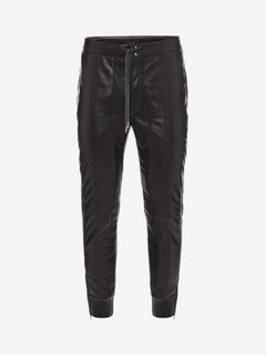 ALEXANDER MCQUEEN Pants Man Down-filled Lambskin Leather Pants f