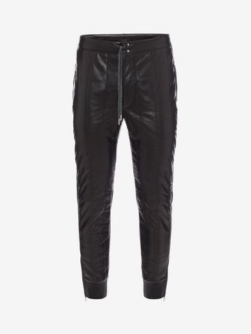 ALEXANDER MCQUEEN Down-filled Lambskin Leather Pants Pants U f
