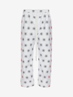 ALEXANDER MCQUEEN Pants Man Cotton Oxford Bandana Pants f