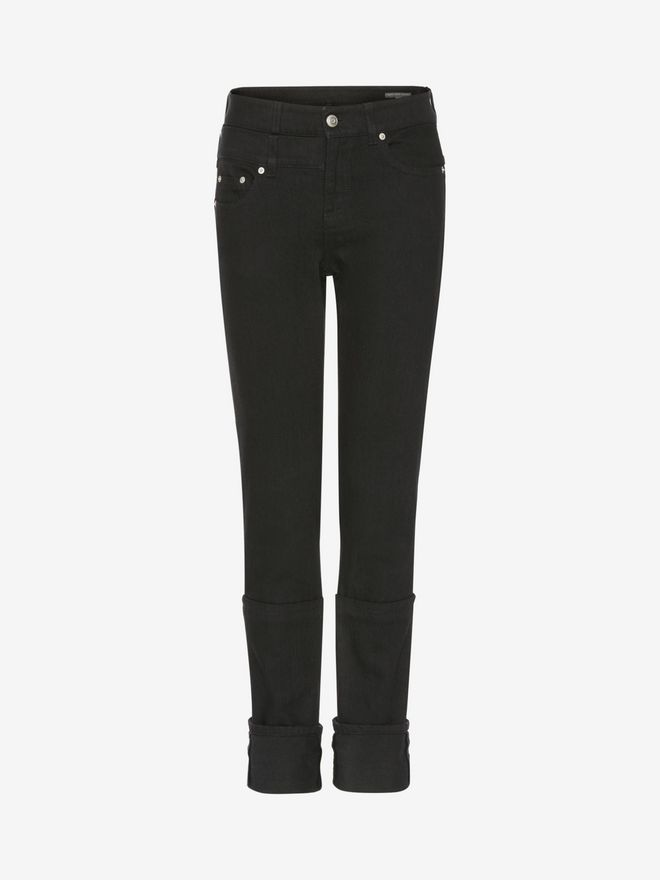 ALEXANDER MCQUEEN Capri Denim Jeans Jeans Woman f