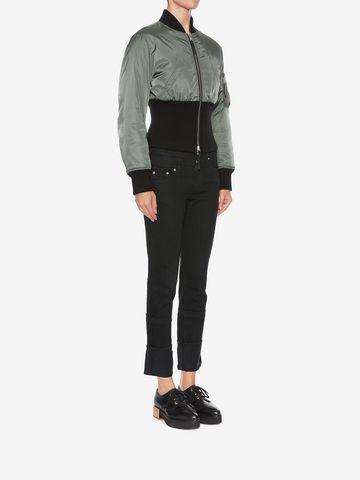 ALEXANDER MCQUEEN Capri Denim Jeans Jeans Woman d