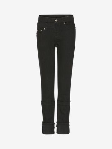 ALEXANDER MCQUEEN Capri Denim Jeans   Jeans D f