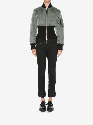 ALEXANDER MCQUEEN Capri Denim Jeans Jeans Woman r
