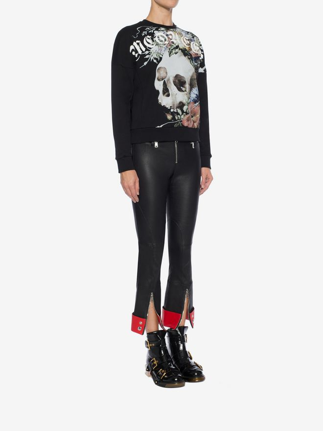 ALEXANDER MCQUEEN Leather Trouser Trousers Woman d