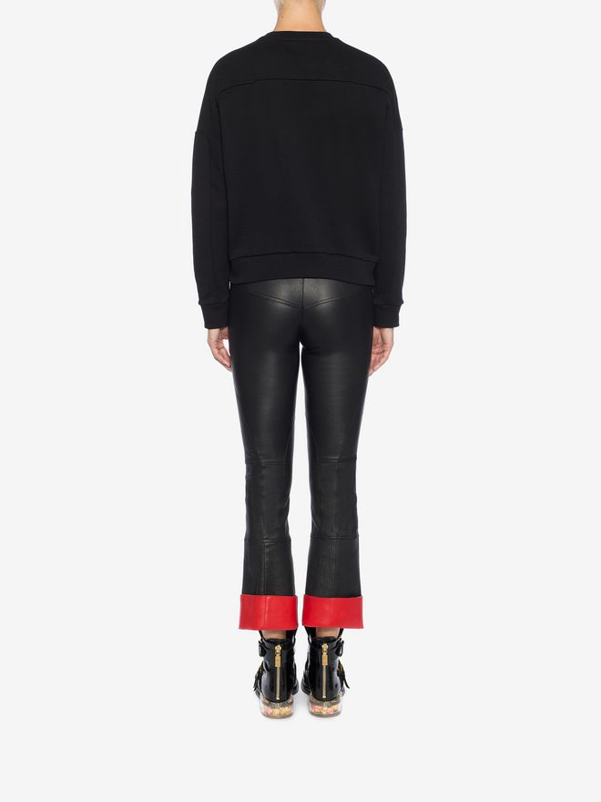 ALEXANDER MCQUEEN Leather Trouser Trousers Woman e