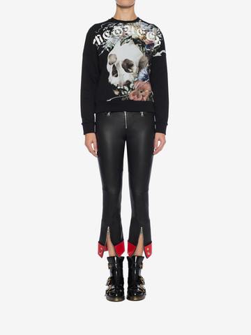 ALEXANDER MCQUEEN Leather Trouser Trousers Woman r