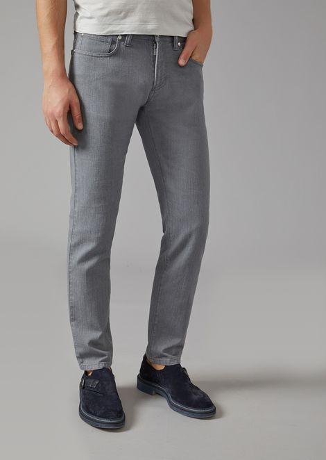 cef16e8bf152 Slim Fit Japanese Denim Jeans   Man   Giorgio Armani