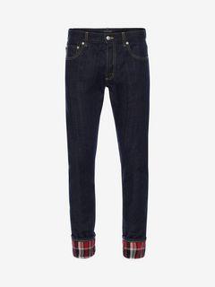 ALEXANDER MCQUEEN Jeans Man Japanese Heavy Denim Jeans f