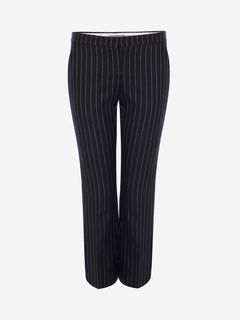 ALEXANDER MCQUEEN Trousers Woman Pinstripe Kickback Trouser f