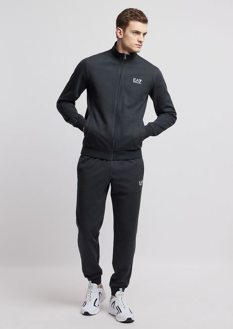 4bee87f72b8 Train Core ID Baby French Terry Cotton Tracksuit for Men | Emporio Armani