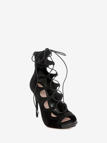 ALEXANDER MCQUEEN Suede Lace up Sandal Sandals D r