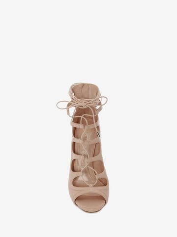ALEXANDER MCQUEEN Cuba Calf Leather Lace up Sandal Sandals D e