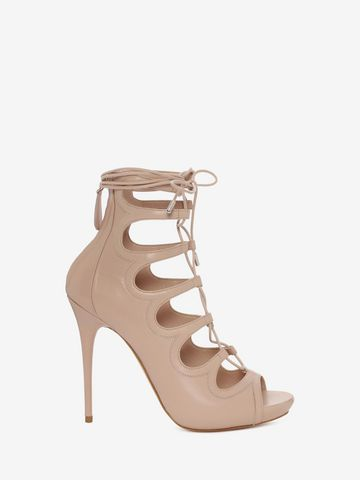 ALEXANDER MCQUEEN Cuba Calf Leather Lace up Sandal Sandals D f