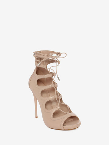 ALEXANDER MCQUEEN Cuba Calf Leather Lace up Sandal Sandals D r