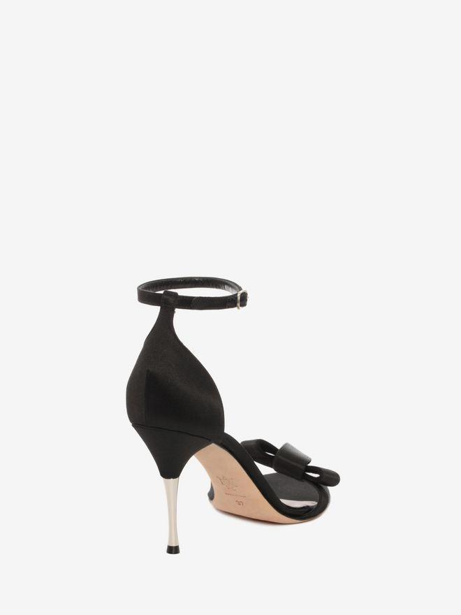 ALEXANDER MCQUEEN Satin Bow Sandal Sandals D d