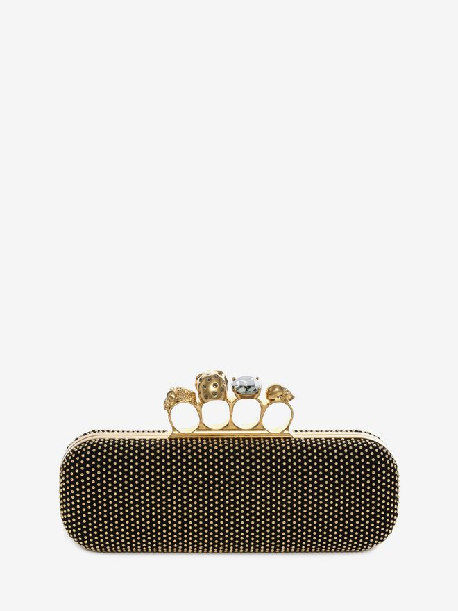 ALEXANDER MCQUEEN Studded Knucklebox Clutch Four-Ring Box Clutch D d