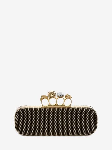 ALEXANDER MCQUEEN Knucklebox Clutch con Borchie Clutch Knucklebox D d