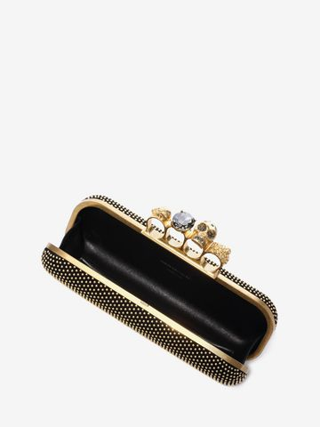 ALEXANDER MCQUEEN Studded Knucklebox Clutch Four-Ring Box Clutch D e
