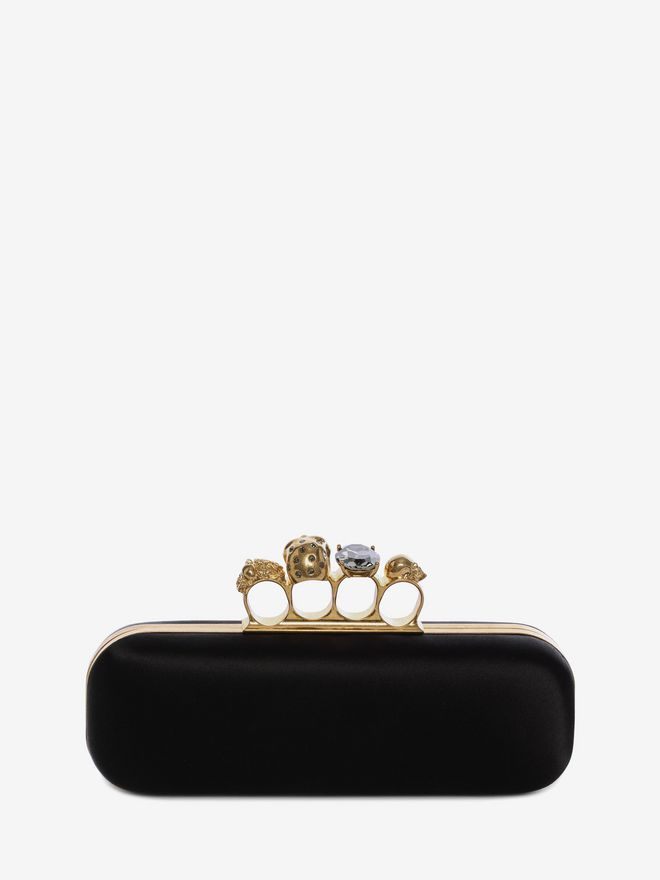 ALEXANDER MCQUEEN Satin Knuckle Box Clutch Knucklebox Clutch D d