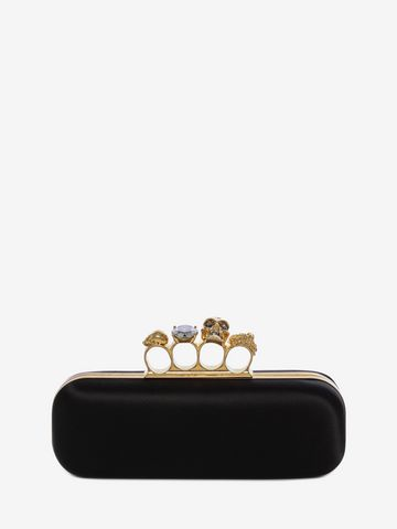 ALEXANDER MCQUEEN Satin Knuckle Box Clutch Knucklebox Clutch D f