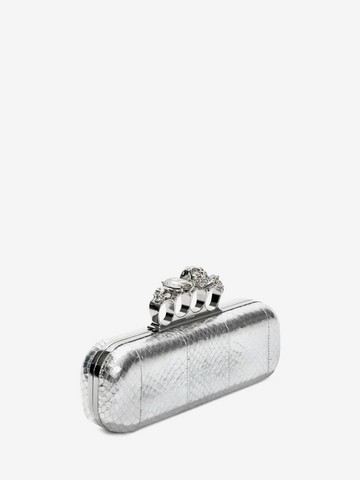 ALEXANDER MCQUEEN Soft Metallic Whips Knuckle Box Clutch Clutch Knucklebox D r