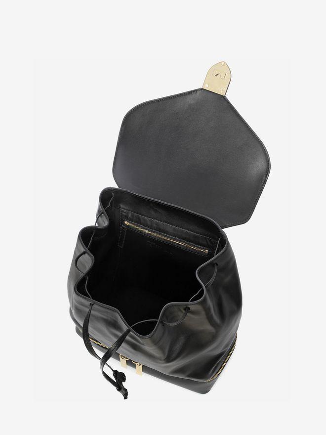 ALEXANDER MCQUEEN Calf Leather Back Pack Backpack D e