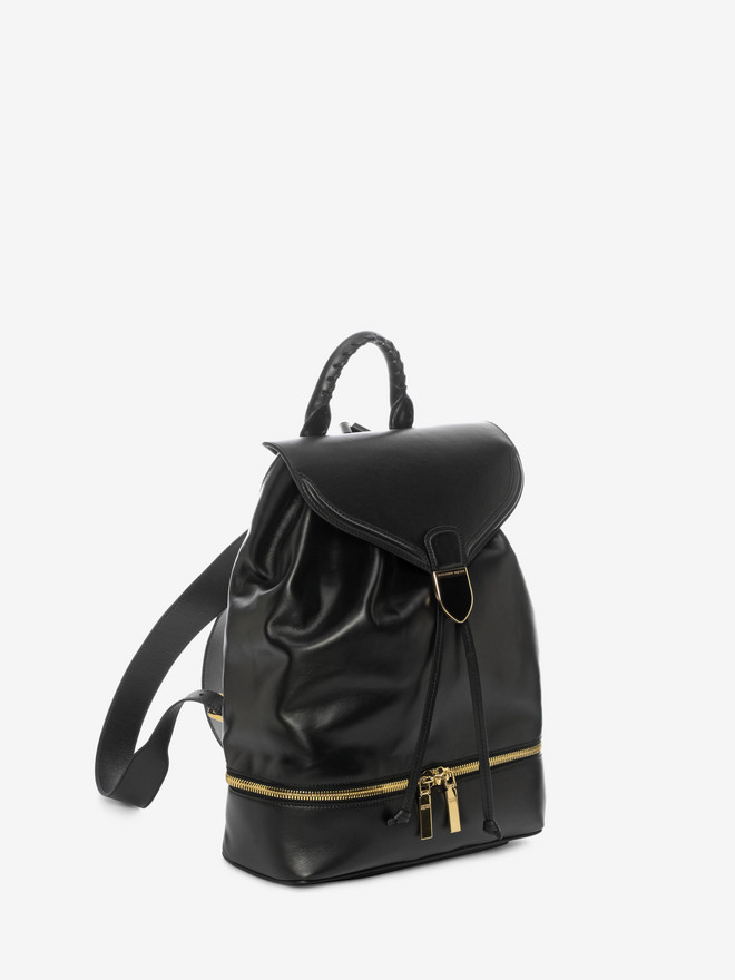 ALEXANDER MCQUEEN Calf Leather Back Pack Backpack D r