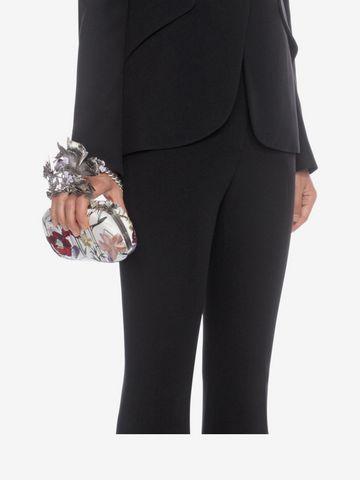 ALEXANDER MCQUEEN Embroidered Flower Knuckle Box Clutch Clutch Seasonal D a