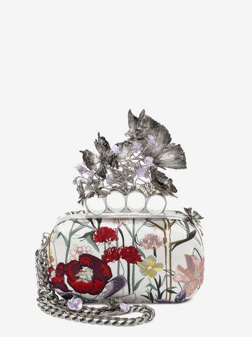 ALEXANDER MCQUEEN Embroidered Flower Knuckle Box Clutch Clutch Seasonal D f