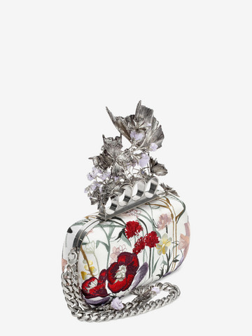ALEXANDER MCQUEEN Embroidered Flower Knuckle Box Clutch Clutch Seasonal D r