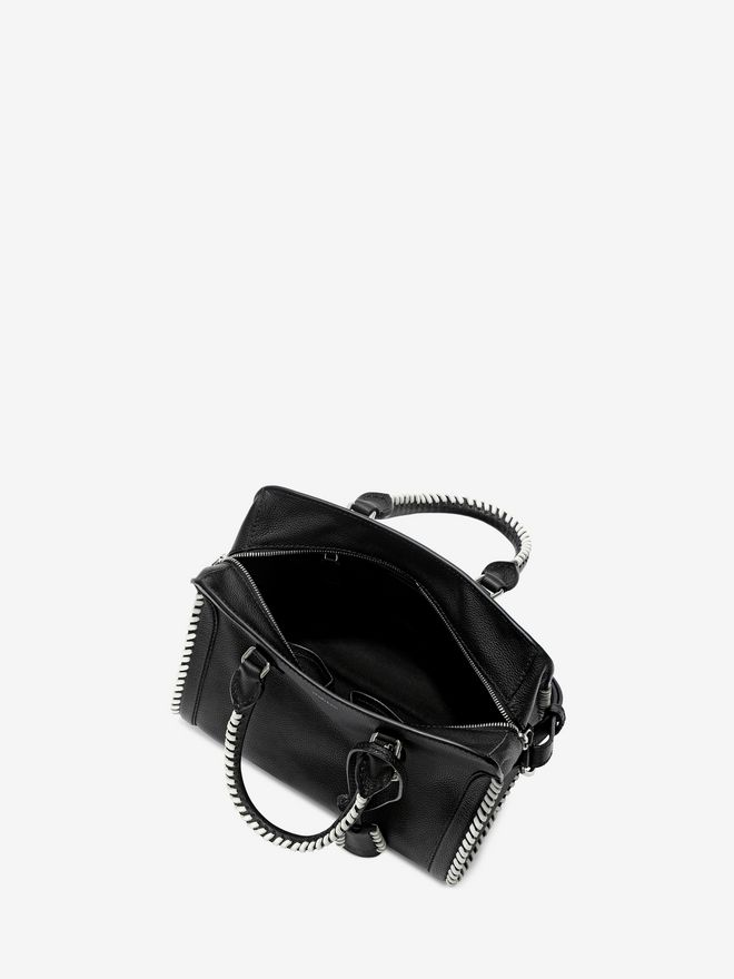 ALEXANDER MCQUEEN Grain Calf Leather Mini Padlock Shoulder Bag Padlock Mini D e