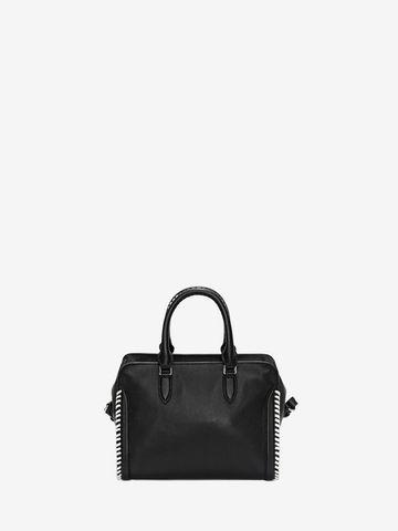 ALEXANDER MCQUEEN Grain Calf Leather Mini Padlock Shoulder Bag Padlock Mini D d
