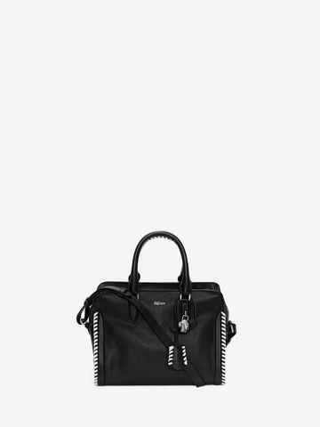 ALEXANDER MCQUEEN Grain Calf Leather Mini Padlock Shoulder Bag Padlock Mini D f
