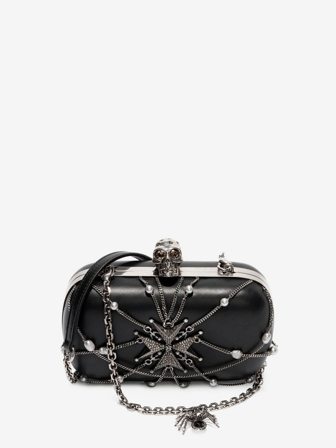 ALEXANDER MCQUEEN Nappa Chains and Charms Skull Clutch Clutch Seasonal D a
