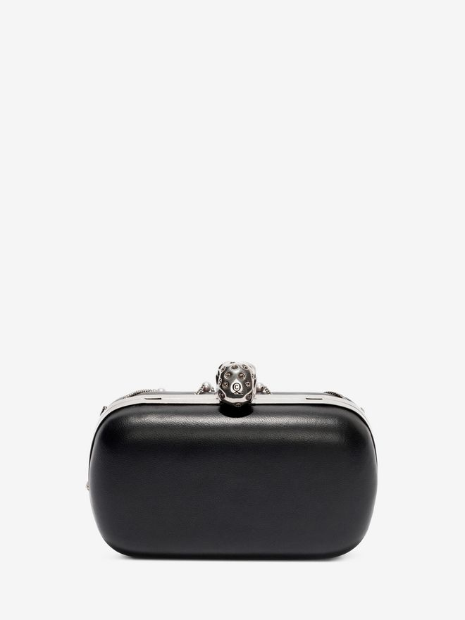 ALEXANDER MCQUEEN Nappa Chains and Charms Skull Clutch Clutch Seasonal D d