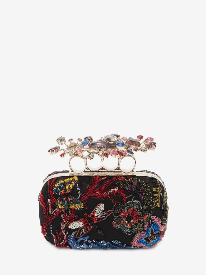 ALEXANDER MCQUEEN Beaded Embroidered Clutch Clutch D f