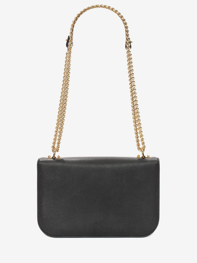 ALEXANDER MCQUEEN Insignia Chain Satchel Shoulder Bag D d