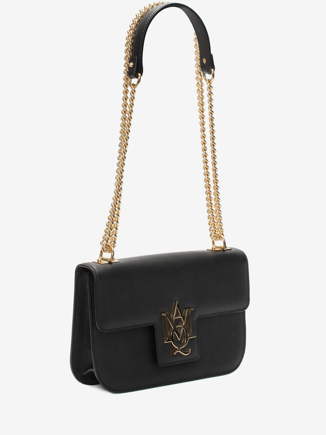 ALEXANDER MCQUEEN Insignia Chain Satchel Shoulder Bag D r