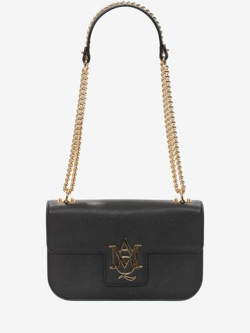 ALEXANDER MCQUEEN Insignia Chain Satchel Shoulder Bag Woman f