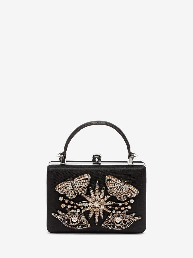 ALEXANDER MCQUEEN Embroidered Case Clutch Seasonal Clutch Woman d