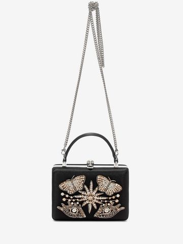 ALEXANDER MCQUEEN Embroidered Case Clutch Seasonal Clutch Woman a